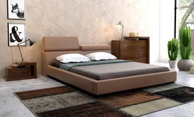 Łóżko Elegance z opcjonalną komodą i stolikiem nocnym