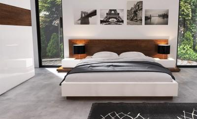 Ekskluzywne lakierowane / fornirowane łóżko Infiniti