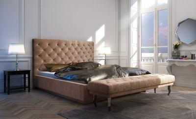 Łóżko z pikowaniami Caro - Glamour