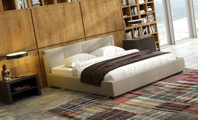 Łóżko Tiffany w nowoczesnym wnętrzu